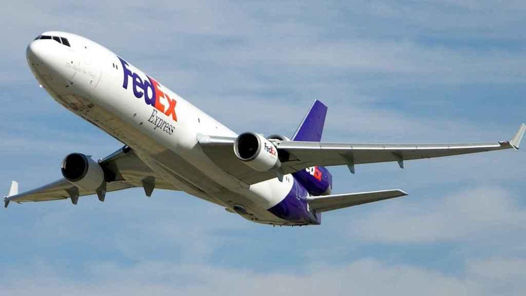 MD-11 de FedEx equipado con Guardian en la parte trasera de la panza del avión