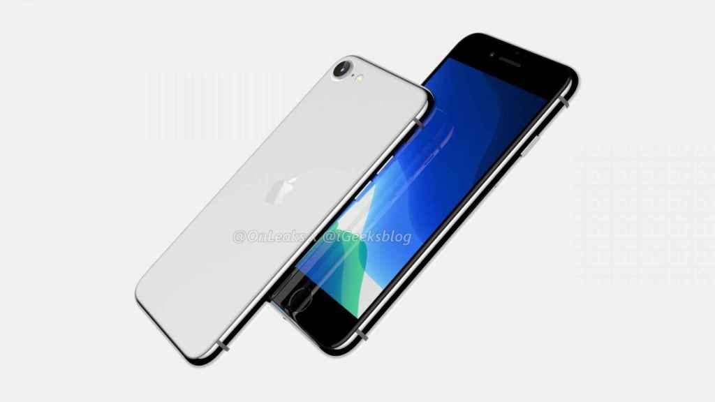 Imagen renderizada de cómo sería el iPhone 9