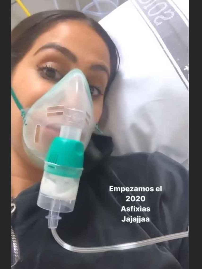 Pantallazo del 'storie' que ha subido Noemi Salazar en el hospital.