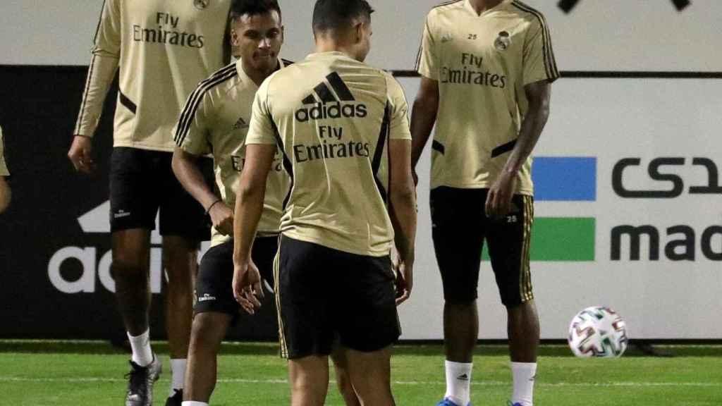 El Real Madrid se ejercita en Yeda