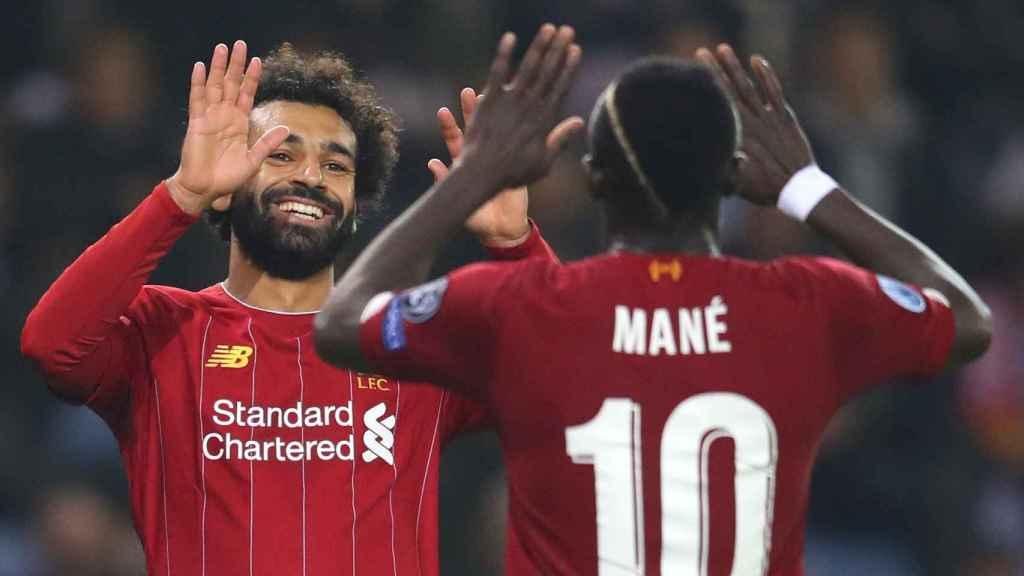 Sadio Mané y Mohamed Salah