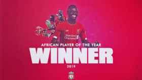 Sadio Mané, elegido Balón de Oro de África