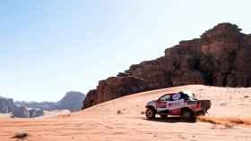 Fernando Alonso en la tercera etapa del Dakar