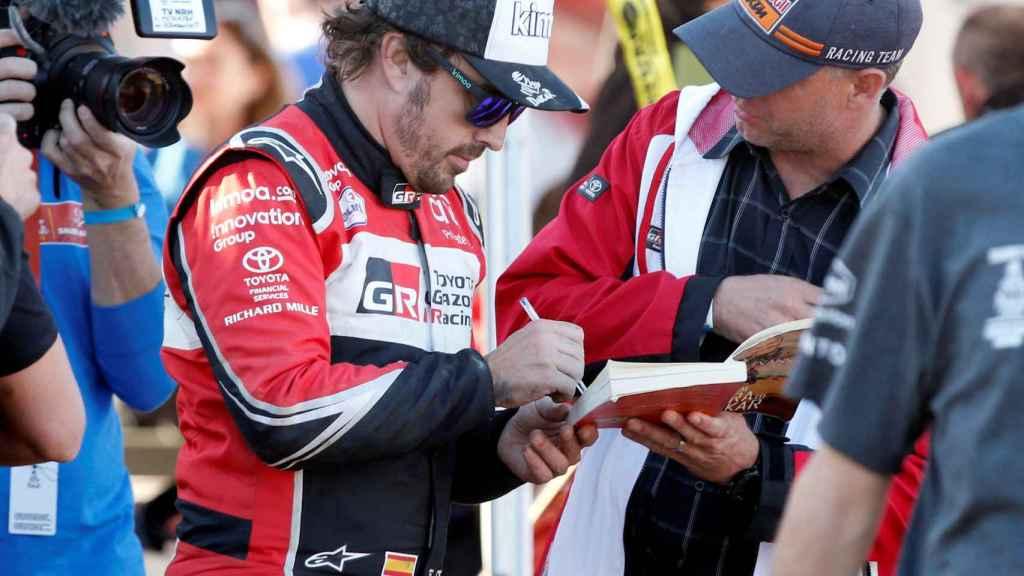Fernando Alonso, durante el Rally Dakar 2020