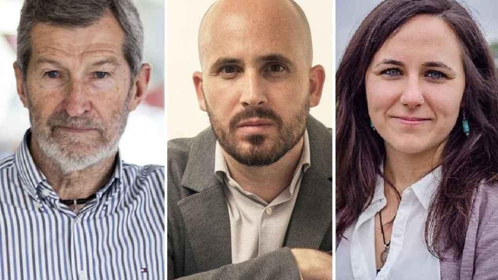 Julio Rodríguez, jefe de Gabinete; Nacho Álvarez, y Ione Belarra, secretarios de Estado de Economía Social y de Agenda 2030.
