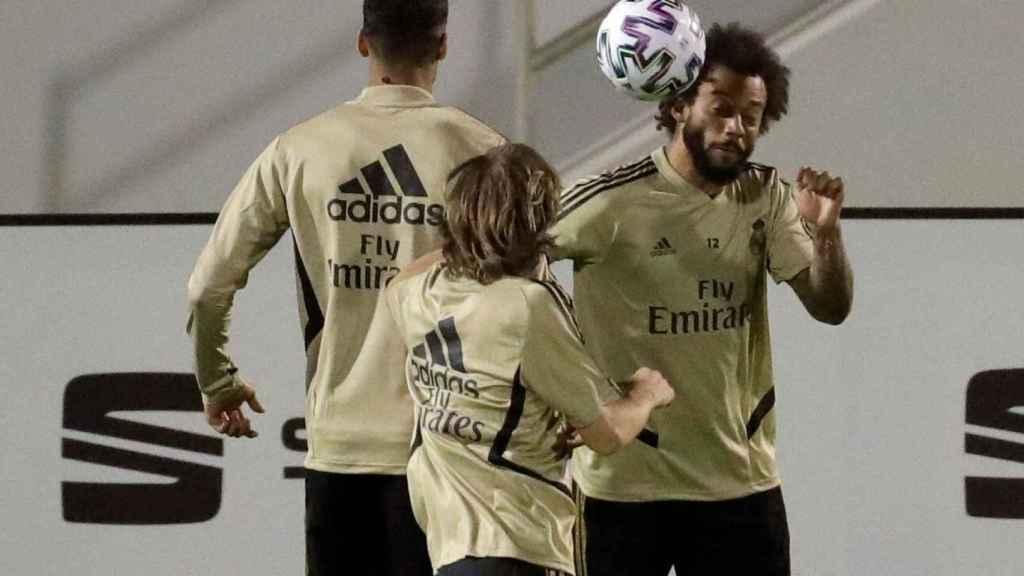 Marcelo, entrenado para la Supercopa de España