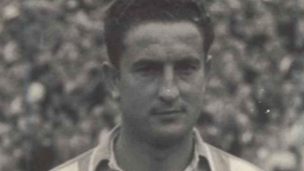 El jugador de fútbol Sabino Barinaga, quien estuvo presente en el bombardeo de Durango.