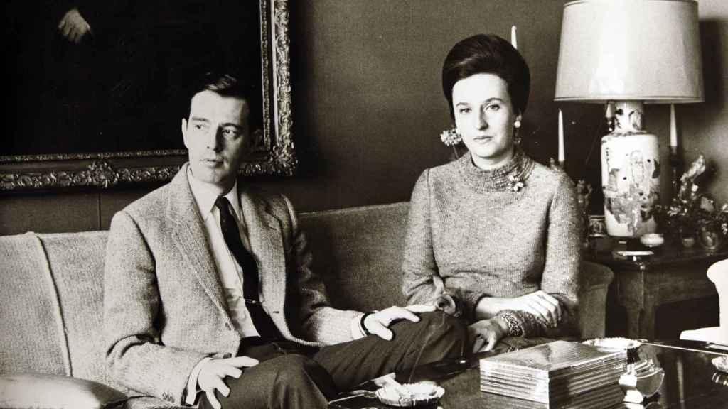 Pilar de Borbón y Luis Gómez-Acebo en la década de los 60.