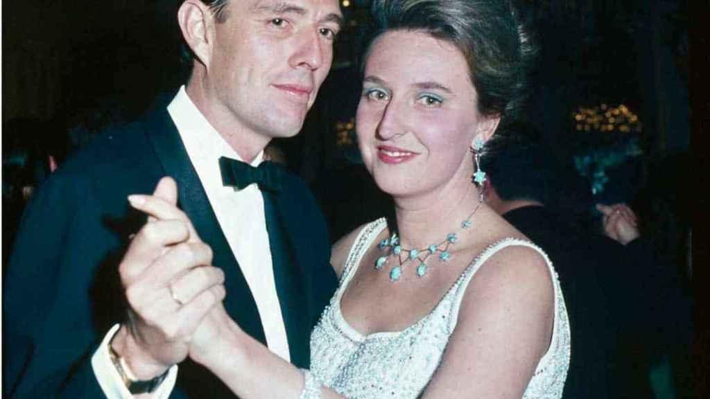 Luis Gómez-Acebo y la infanta Pilar de Borbón.