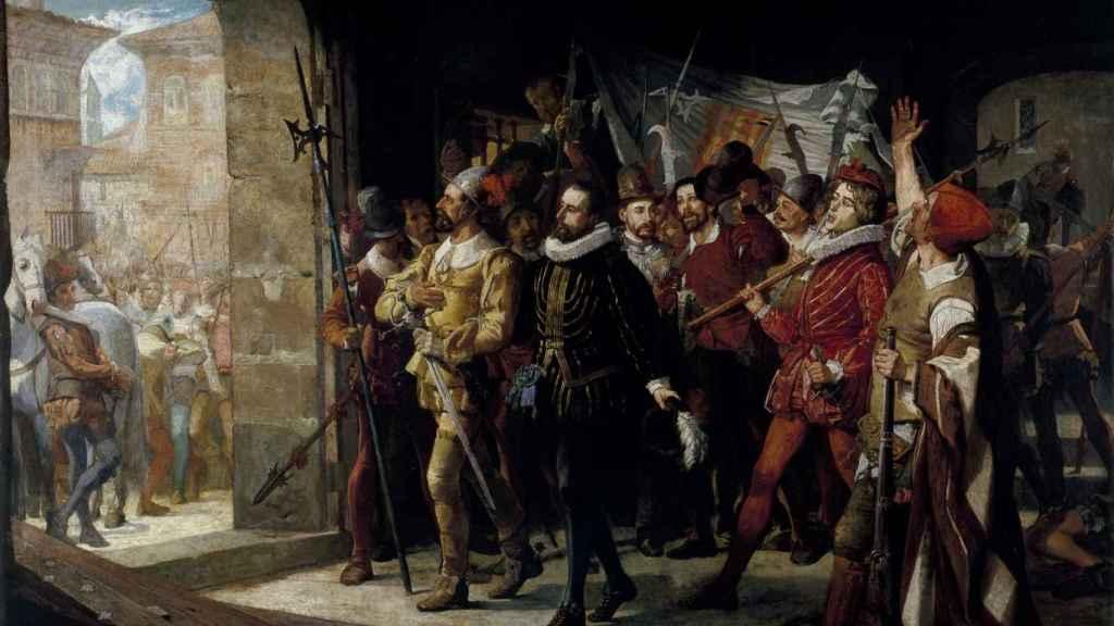 'Antonio Pérez, libertado de la cárcel de los Manifestados por el pueblo de Zaragoza, en 1591', de Manuel Ferrán.