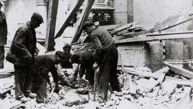 Ruinas de Durango tras el bombardeo (1937).
