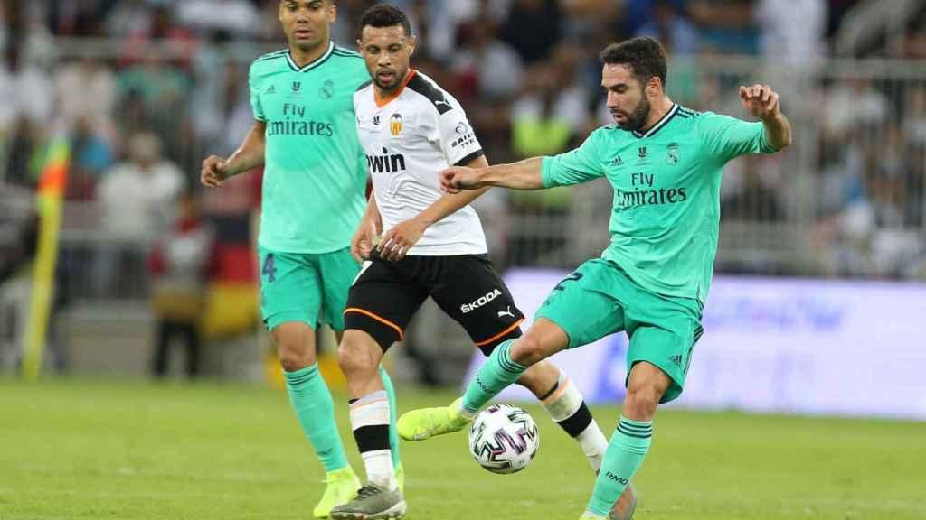 Carvajal en el Valencia - Real Madrid