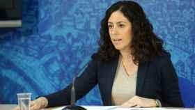 Noelia de la Cruz, en una imagen de Óscar Huertas, este miércoles en rueda de prensa en Toledo