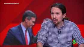 Pablo Iglesias durante la entrevista de El Intermedio