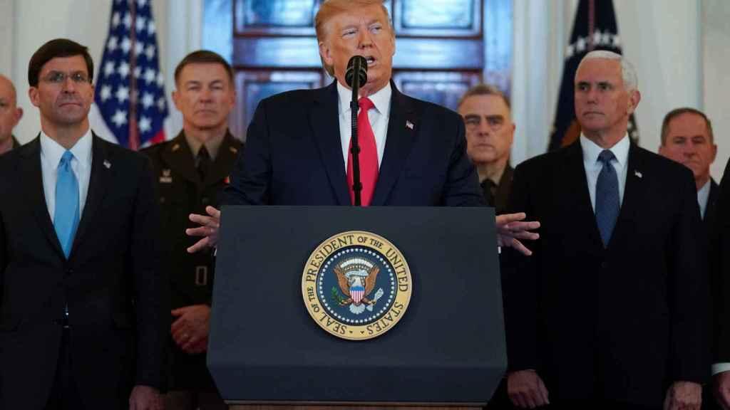 Donald Trump, presidente de Estados Unidos, comparece en la Casa Blanca.