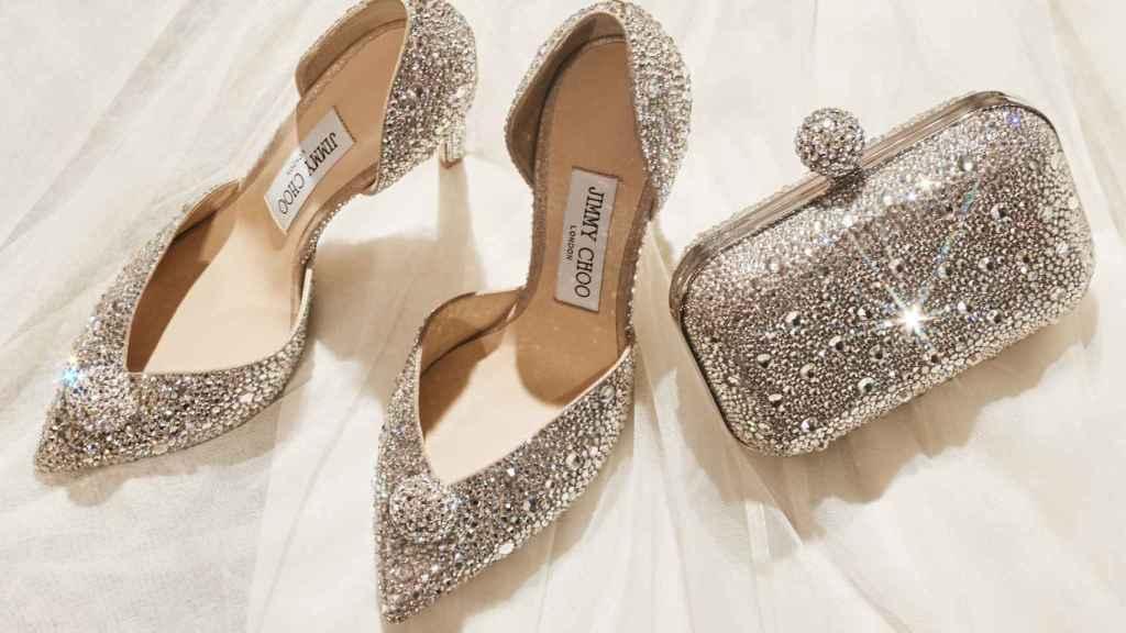 etiqueta Grabar aceleración  Zapatos con cristales de Swarovski: Jimmy Choo presenta su colección  nupcial más rompedora