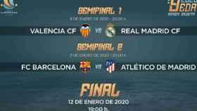 Calendario y horarios de la competición futbolística (RFEF)