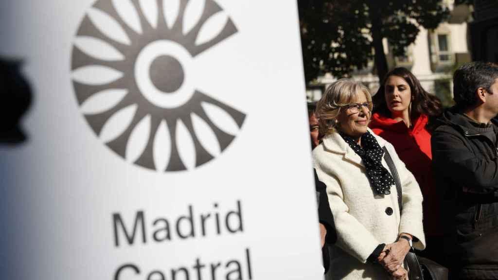 La ex alcaldesa de Madrid, Manuela Carmena, en la inauguración de Madrid Central el 30 de noviembre de 2018.