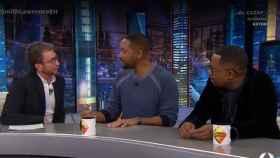 Pablo Motos junto a Will Smith y Martin Lawrence.
