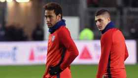 Verrati y Neymar con el PSG