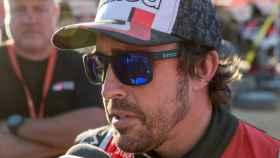 Fernando Alonso, durante el Rally Dakar