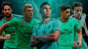 Isco, Kroos, Casemiro, Valverde y Modric