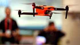 Drone volando en el CES de Las Vegas 2020.