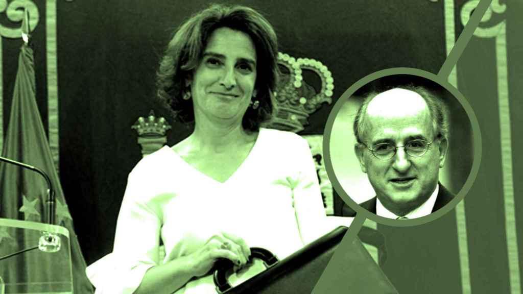 Teresa Ribera y Antonio Brufau.