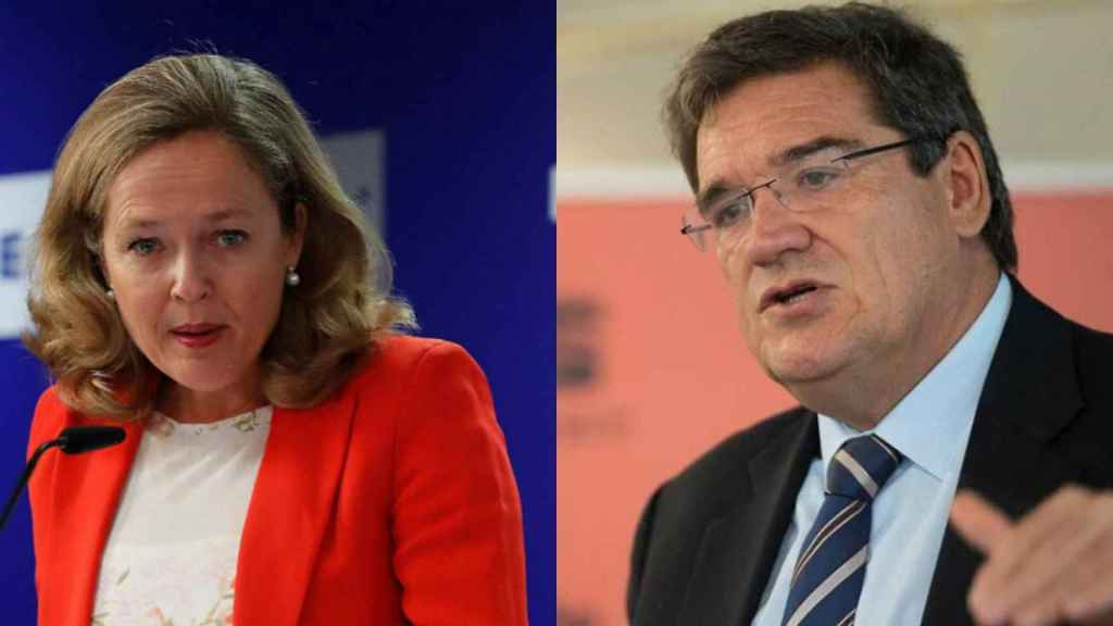 Nadia Calviño, vicepresidenta tercera, y José Luis Escrivá, ministro de Inclusión y Seguridad Social.