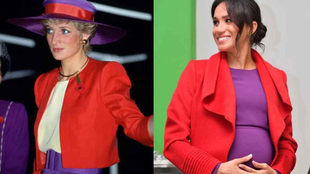 Diana de Gales y Meghan Markle.