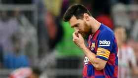 Messi, en la Supercopa de España