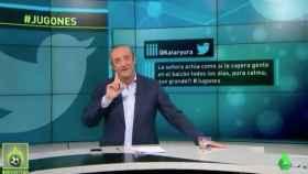 Josep Pedrerol en el informativo de Jugones en La Sexta