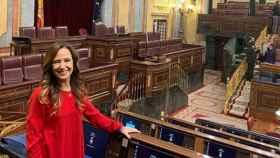 Teresa Jiménez-Becerril en el Hemiciclo del Congreso de los Diputados.