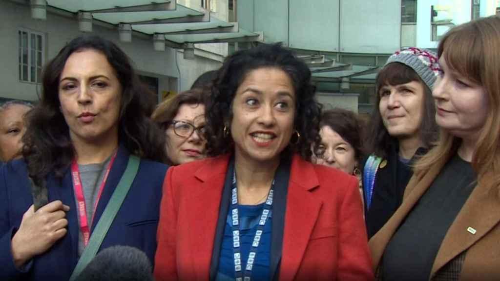 Samira Ahmed, presentadora de la BBC.