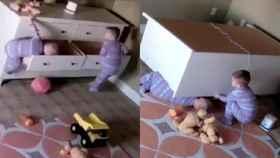 Las cómodas sin anclar suponen un peligro para los niños.