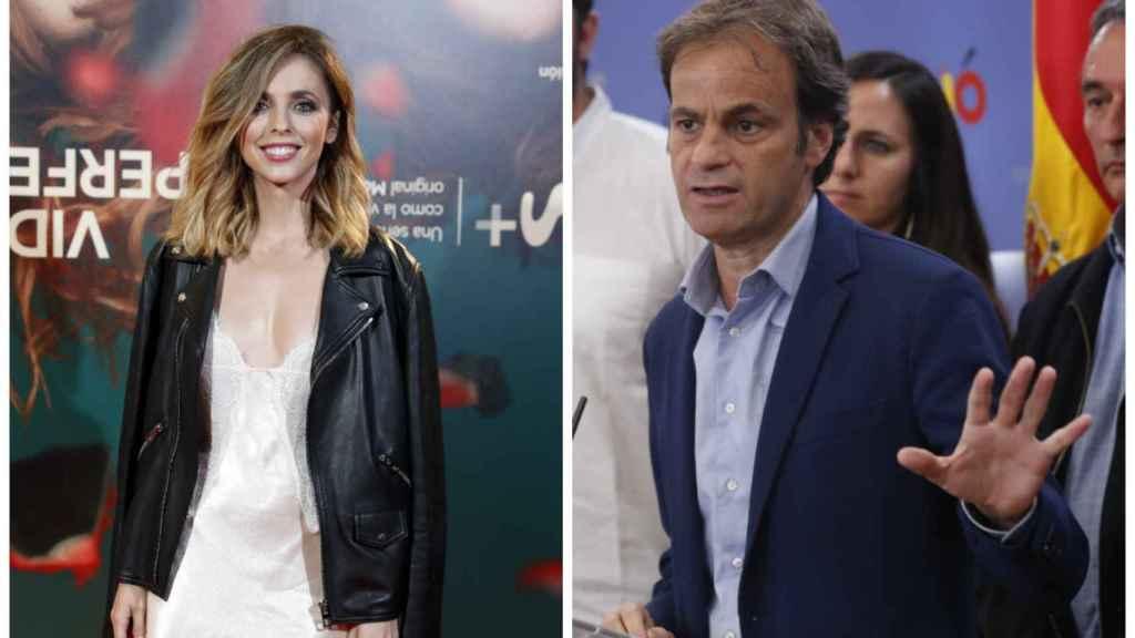 La actriz y el político en un montaje de JALEOS.