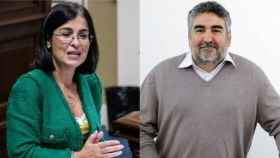 Carolina Darias y José Manuel Rodríguez Uribes.