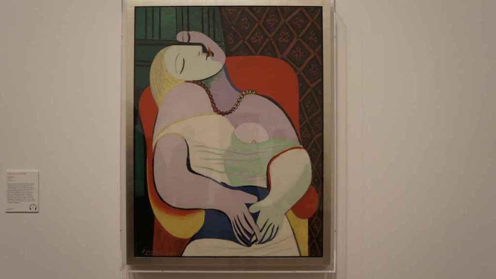 El cuadro 'Busto de mujer', de Picasso, antes de ser atacado por el joven murciano.