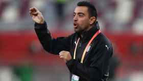 Xavi, durante la semifinal de la Copa Copa qatarí