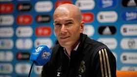 Zidane en la rueda de prensa previa a la final de la Supercopa de España