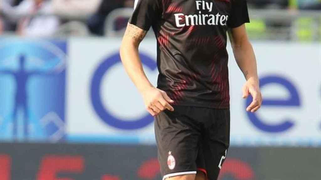 Zlatan Ibrahimovic, en el partido del Milan
