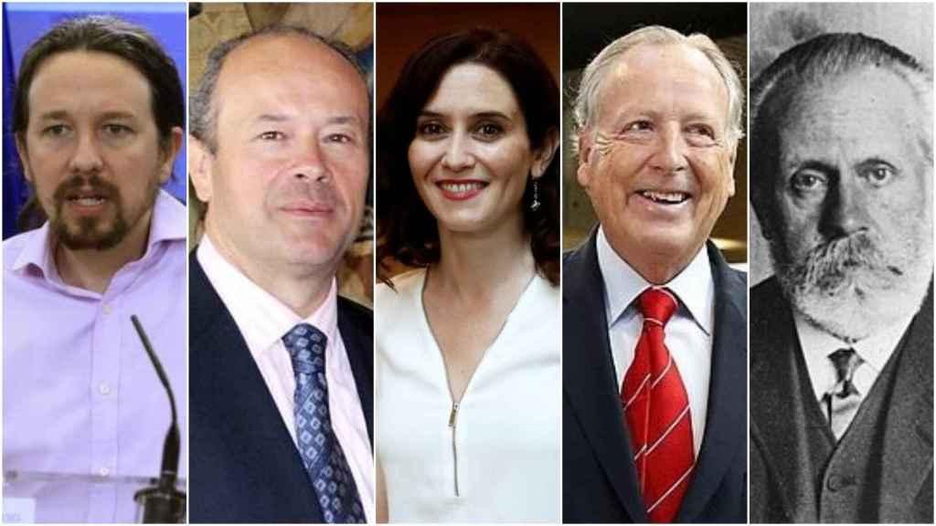 Iglesias Turrión, Campo, Díaz Ayuso, Álvarez del Manzano e Iglesias Posse, nacidos el 17 de octubre.