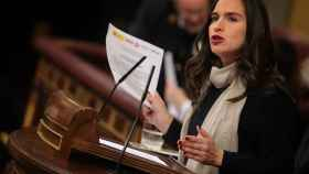 Belén Hoyo, diputada del PP y presidenta del Comité Electoral del PP, en el Congreso.