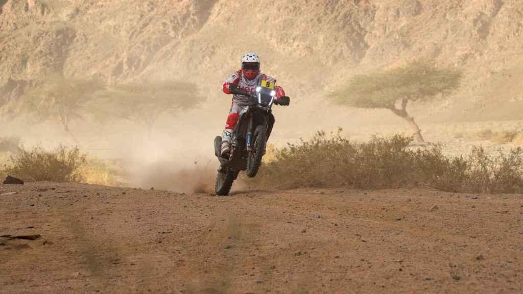 Paulo Gonçalves, durante el rally Dakar 2020