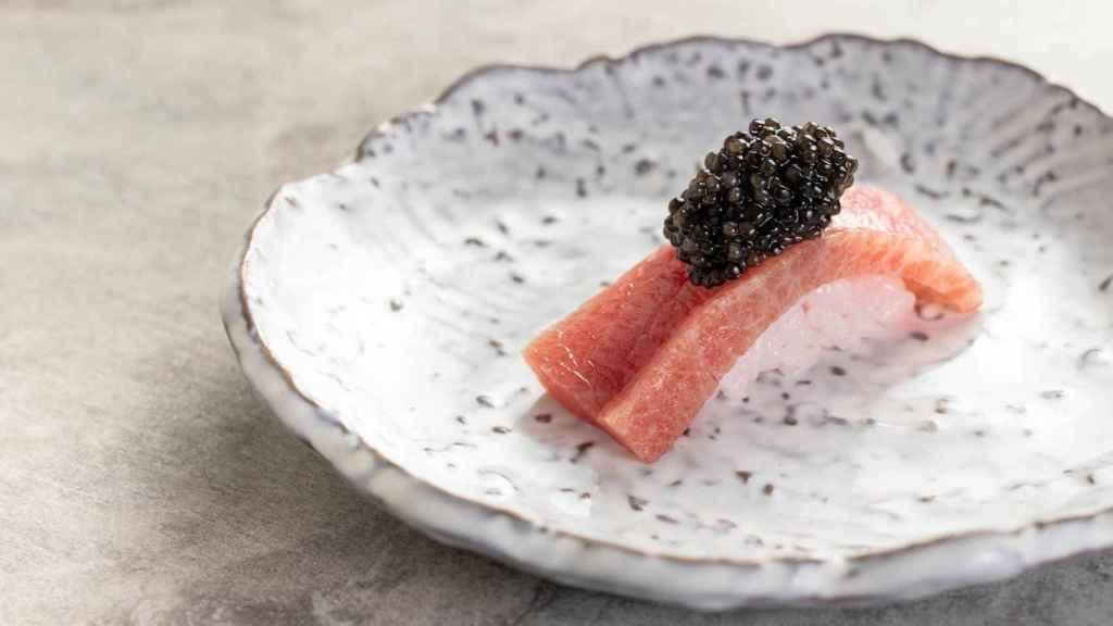 Kappo - nigiri atún rojo y caviar