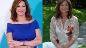 Ana Rosa en una comparativa de su antes y después.
