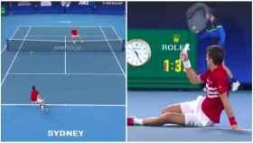 Nadal hizo sufrir a Djokovic por cosas así: el puntazo de Rafa que dejó sentado al serbio