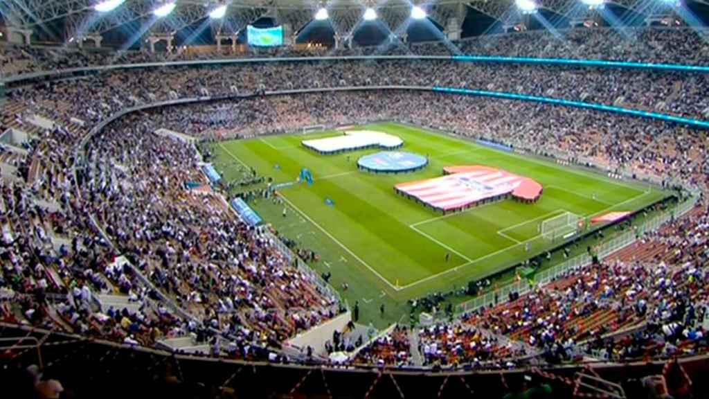El estadio Rey Abdullah Sports City durante la final de la Supercopa de España