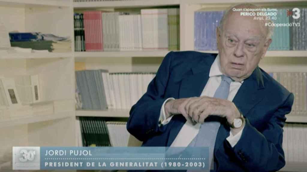 Jordi Pujol, durante su entrevista en el programa 30 minuts.