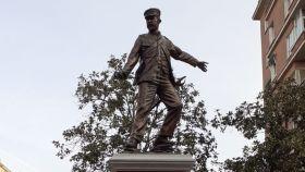 Monumento a los héroes de Baler, en la plaza del Conde del Valle de Súchil, en Madrid.